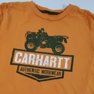 Carhartt Shirts & Tops - Boys orange Carhartt short sleeve tee small 8-10